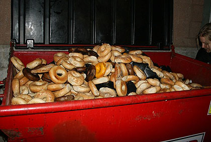 NYC Bagel Dumpster Photo