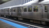 Chicago's Brown Line El Train Photo